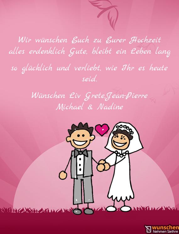 Alles wünschen brautpaar euch liebes wir Hochzeitssprüche für